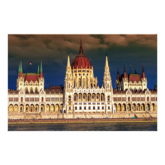 Hungarian Parliament Building in Budapest, Hungary Stationery