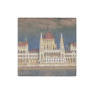 Hungarian Parliament Building in Budapest, Hungary Stone Magnet