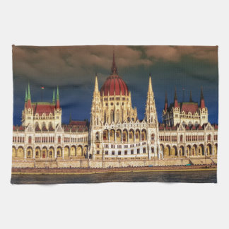 Hungarian Parliament Building in Budapest, Hungary Tea Towel