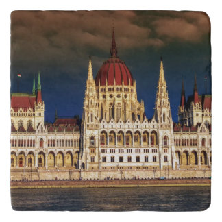 Hungarian Parliament Building in Budapest, Hungary Trivet