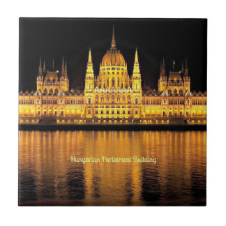 Hungarian Parliament Building Small Square Tile