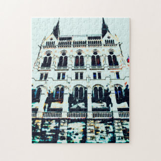 Hungarian Parliament painting Jigsaw Puzzle