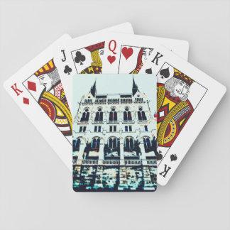 Hungarian Parliament painting Poker Deck