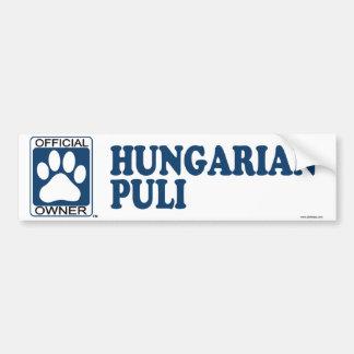 Hungarian Puli Blue Bumper Sticker
