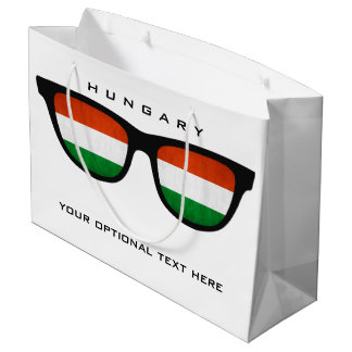 Hungarian Shades custom text & color gift bag