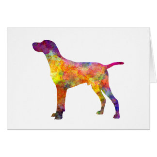 Hungarian Shorthaired Pointer in watercolor Card