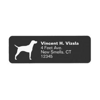 Hungarian Vizsla Silhouette Return Address Label