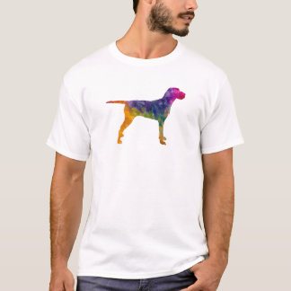 Hungarian Wirehaired Vizsla in watercolor T-Shirt