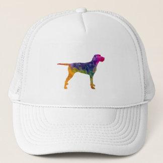 Hungarian Wirehaired Vizsla in watercolor Trucker Hat