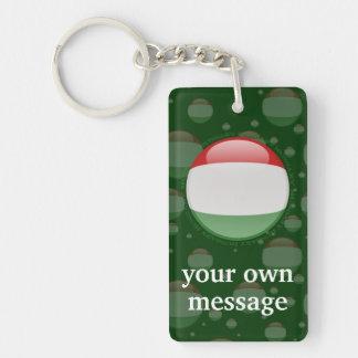 Hungary Bubble Flag Key Ring