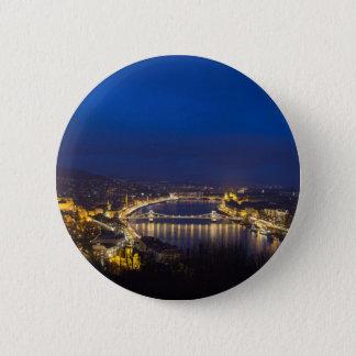 Hungary Budapest at night panorama 6 Cm Round Badge