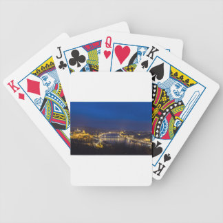 Hungary Budapest at night panorama Bicycle Playing Cards
