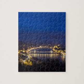 Hungary Budapest at night panorama Jigsaw Puzzle