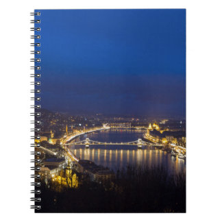 Hungary Budapest at night panorama Notebook