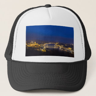 Hungary Budapest at night panorama Trucker Hat