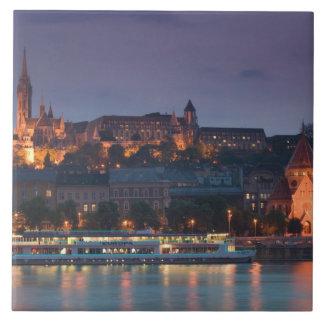 HUNGARY, Budapest: Castle Hill, Calvinist Church Large Square Tile