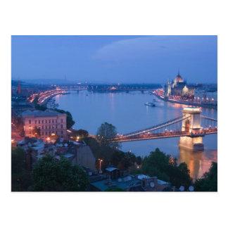 HUNGARY, Budapest: Szechenyi (Chain) Bridge, 2 Postcard