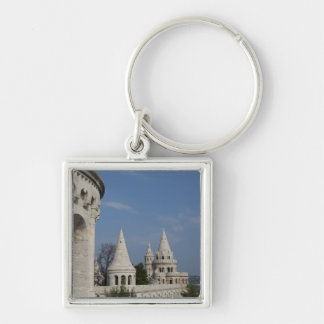Hungary, capital city of Budapest. Buda, Castle Silver-Colored Square Key Ring