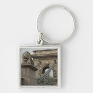 Hungary, capital city of Budapest. Historic 2 Silver-Colored Square Key Ring