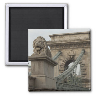 Hungary, capital city of Budapest. Historic 2 Square Magnet