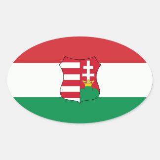 Hungary Car Oval Oval Sticker