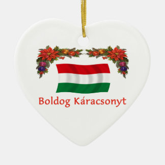 Hungary Christmas Ceramic Ornament