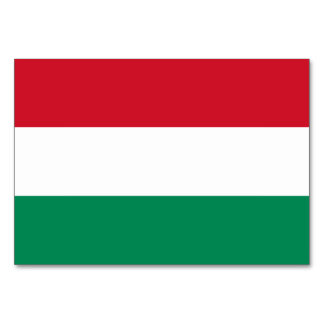 Hungary Flag Card