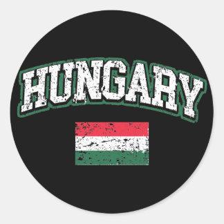 Hungary  Flag Classic Round Sticker
