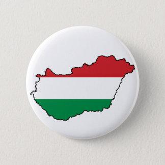 Hungary Flag Map HU 6 Cm Round Badge