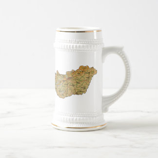 Hungary Flag ~ Map Mug