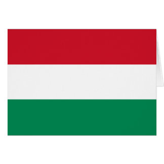 Hungary Flag Note Card