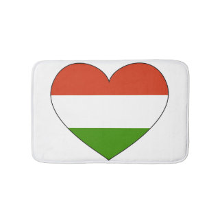 Hungary Flag Simple Bath Mats