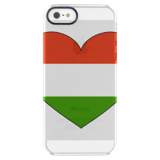 Hungary Flag Simple Clear iPhone SE/5/5s Case
