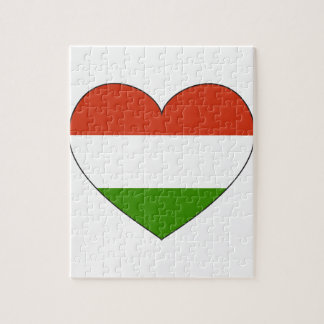 Hungary Flag Simple Jigsaw Puzzle