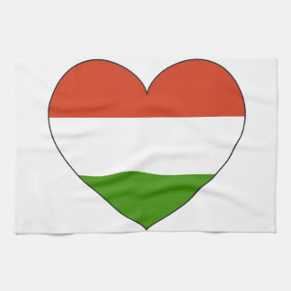 Hungary Flag Simple Tea Towel