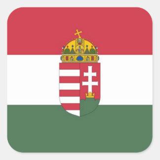 Hungary Flag Square Sticker