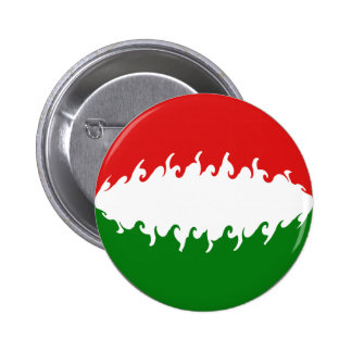 Hungary Gnarly Flag Buttons