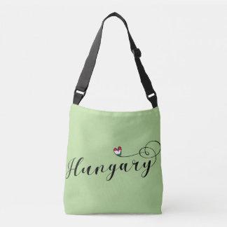 Hungary Heart Customizable Bag, Hungarian Crossbody Bag