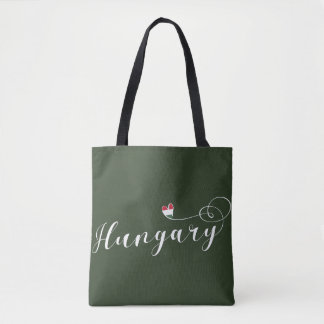 Hungary Heart Customizable Bag, Hungarian Tote Bag