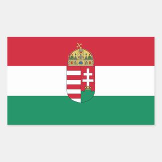 Hungary/Hungarian 1940 Flag Rectangular Sticker
