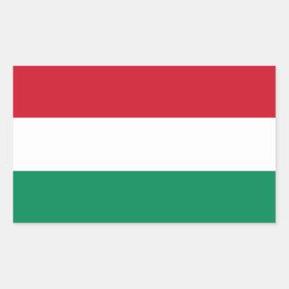 Hungary/Hungarian Flag Rectangular Sticker