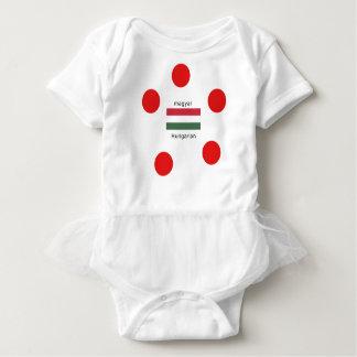 Hungary Language And Flag Design Baby Bodysuit
