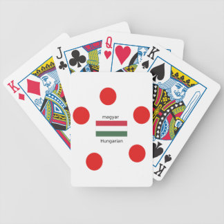 Hungary Language And Flag Design Bicycle Playing Cards