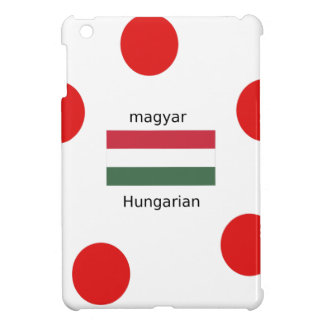 Hungary Language And Flag Design Cover For The iPad Mini