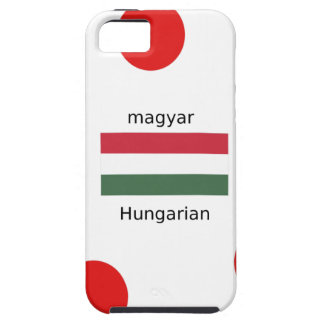 Hungary Language And Flag Design Tough iPhone 5 Case