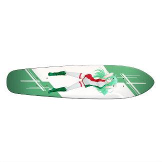 Hungary Manga Anime girl dressed in Flag Hungarian Skate Board Deck