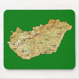 Hungary Map Mousepad