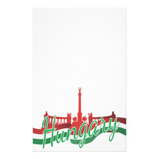 Hungary Patriotic Stationery Paper