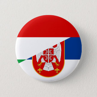 hungary serbia flag country half symbol 6 cm round badge