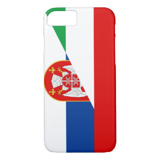 hungary serbia flag country half symbol iPhone 8/7 case